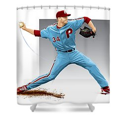 Roy Halladay Shower Curtain