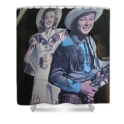 Roy Rogers And Dale Evans #2 Cut-outs Tombstone Arizona 2004 Shower Curtain by David Lee Guss