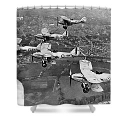 Royal Air Force Formation Shower Curtain by Underwood Archives