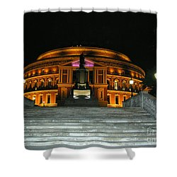 Shower Curtain featuring the photograph Royal Albert Hall At Night by Bev Conover