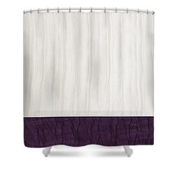 Royal Aubergine - Royal Purple Shower Curtain by Margaret Ivory