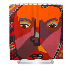 Shower Curtain featuring the painting Royal Buddha by Don Koester