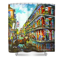 Royal Carriage - New Orleans French Quarter Shower Curtain by Dianne Parks