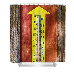 Royal Crown Barn Thermometer Shower Curtain