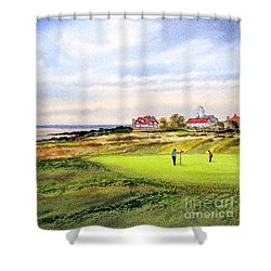 Royal Liverpool Golf Course Hoylake Shower Curtain by Bill Holkham