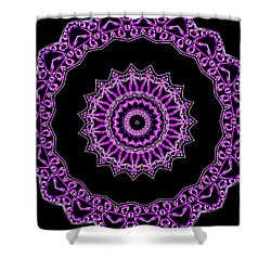Royal Mandal Of Heart Shower Curtain