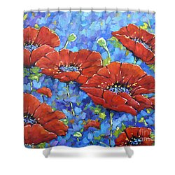 Royal Poppies By Prankearts Shower Curtain by Richard T Pranke