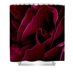 Royal Red Peony Shower Curtain