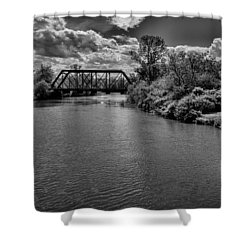 Royal River No.2 Shower Curtain by Mark Myhaver