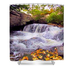 Royal River White Waterfall Shower Curtain
