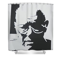 Shower Curtain featuring the drawing Royal's Portrait by PainterArtist FINs husband Maestro