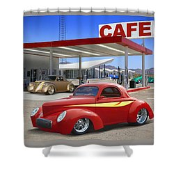 Roy's Gas Station 2 Shower Curtain by Mike McGlothlen
