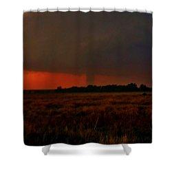 Rozel Tornado On The Horizon Shower Curtain by Ed Sweeney