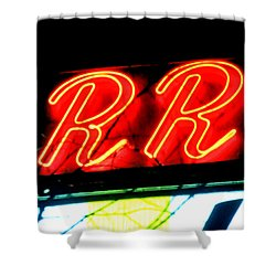 Shower Curtain featuring the painting RR by Luis Ludzska