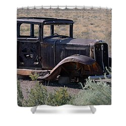 Shower Curtain featuring the photograph Rt 66 And Nowhere To Go by Debby Pueschel