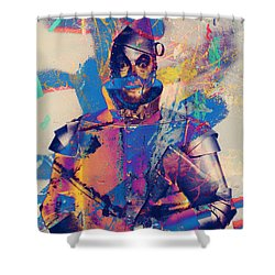 Rubber Tin Man  Shower Curtain