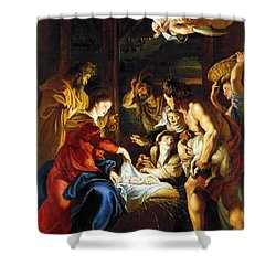 Rubens Adoration Shower Curtain