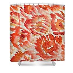 Rubicund Sea Shower Curtain by Sonali Gangane