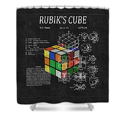 Rubik's Cube Patent 3 Shower Curtain