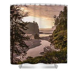 Ruby Beach Landscape Shower Curtain