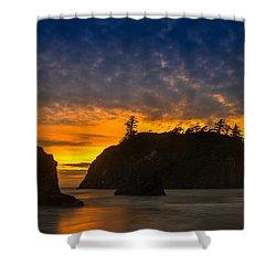 Ruby Beach Olympic National Park Shower Curtain by Steve Gadomski