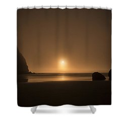 Ruby Beach Sunset Shower Curtain by Charlie Duncan