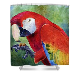 Ruby Having Lunch Shower Curtain