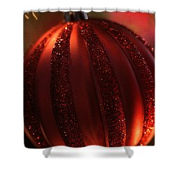 Shower Curtain featuring the photograph Ruby Red Christmas by Linda Shafer