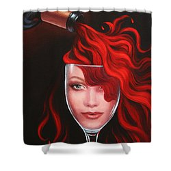 Ruby Red Shower Curtain by Sandi Whetzel