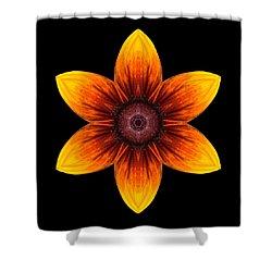 Rudbeckia I Flower Mandala Shower Curtain by David J Bookbinder