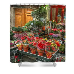 Rue Cler Flower Shop Shower Curtain