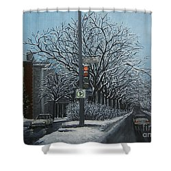 Rue St Jacques Shower Curtain by Reb Frost