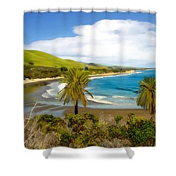 Rufugio Shower Curtain by Kurt Van Wagner