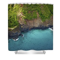 Rugged Kauai Coastline Shower Curtain by Kicka Witte