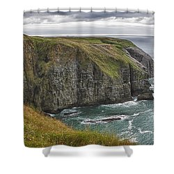 Rugged Landscape Shower Curtain by Eunice Gibb