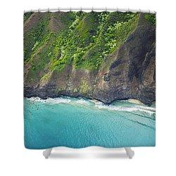 Rugged Na Pali Coast Shower Curtain by Kicka Witte