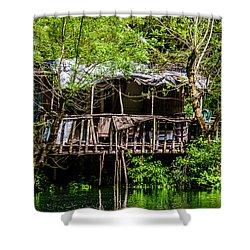 Ruins Of A House Shower Curtain by Sotiris Filippou