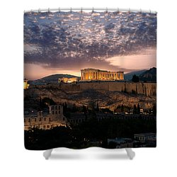 Ruins Of A Temple, Athens, Attica Shower Curtain