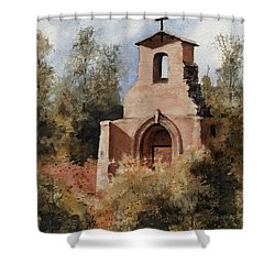 Ruins Of Morley Church Shower Curtain by Sam Sidders