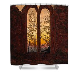 Ruins Of The Oybin Monastery The Dreamer Shower Curtain by Philip Ralley