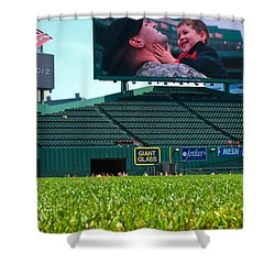 Run To Home Base 2012 Shower Curtain by Paul Mangold