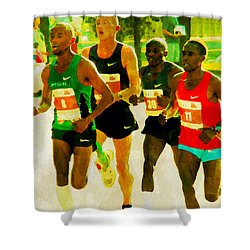Runners Shower Curtain by Alice Gipson