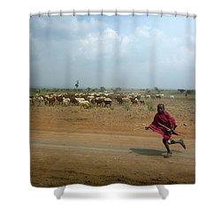 Running Boy Shower Curtain