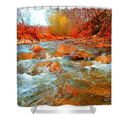 Running Creek 2 By Christopher Shellhammer Shower Curtain