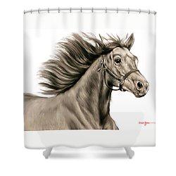 Da146 Running Free By Daniel Adams Shower Curtain