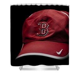 Running Hat Shower Curtain by Tom Gort