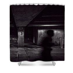Running Level Three Night People Shower Curtain by Bob Orsillo