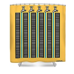Running Waters Shower Curtain