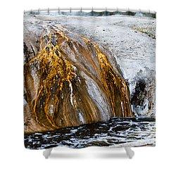 Runoff From Geyser Shower Curtain by Dan Hartford