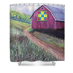 Shower Curtain featuring the painting Rural America's Gift by Susan DeLain